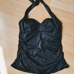 Black Plus Size halter top Tankini